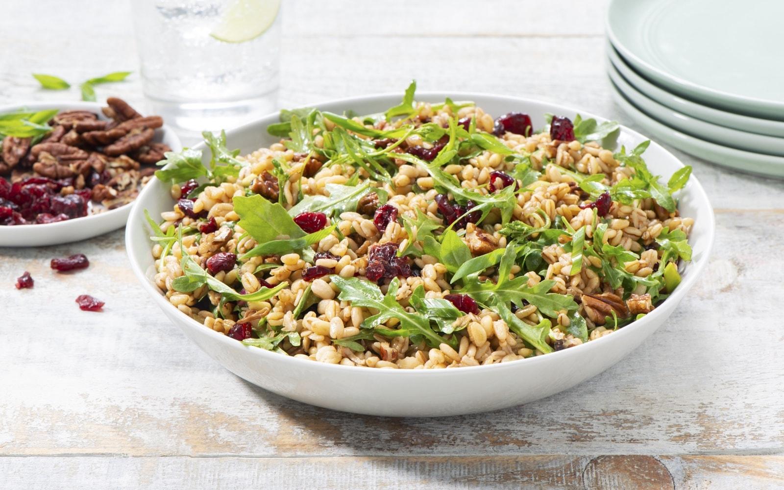 Cranberry Arugula Grains Salad