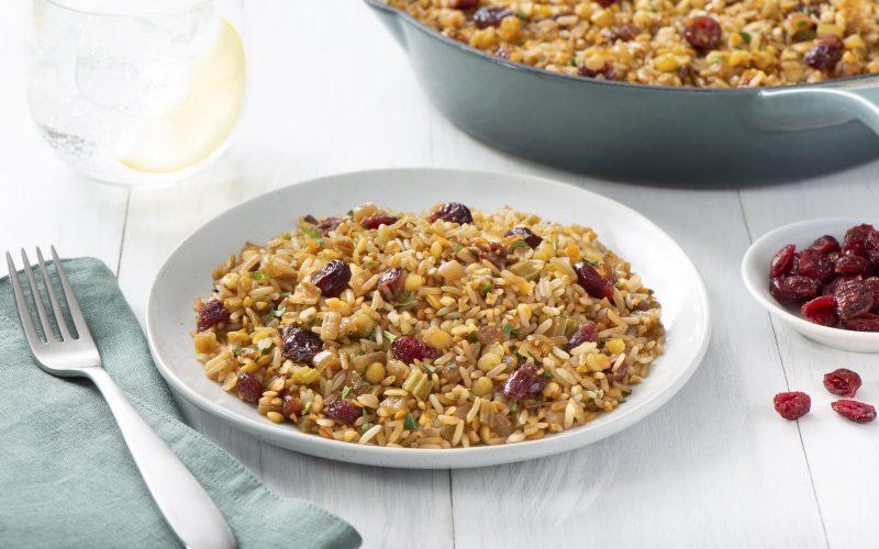 Rice Lentil Cranberry Pilaf